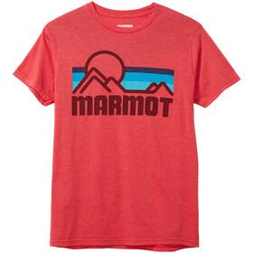 Marmot Marmot Coastal Maglia A Maniche Corte Uomo, rosso